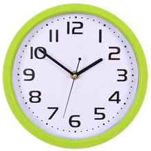 Fashion Circular Living Room Wall Clock Plastic Green Mirror Wall Watch Brief Quartz Mute Wall Clock Christmas Gifts