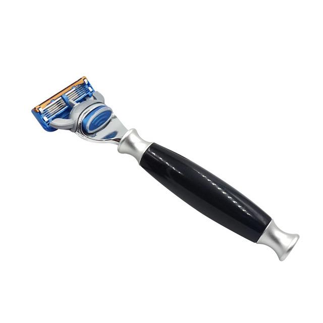 2017 Hot Segurança Navalha Rotativo Manual de Lâmina de Barbear Lâminas De Barbear Barbeiro Navalha Punho Longo Conjuntos de Barbear Navalha para Os Homens de Qualidade Superior