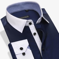 New Arrival High Quality Patchwork Style Men S Casual Clothes Mens Soild Shirts Mens Dress Shirts