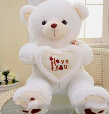 Beige Giant Big Plush Teddy Bear Soft Gift For Valentine Day Birthday