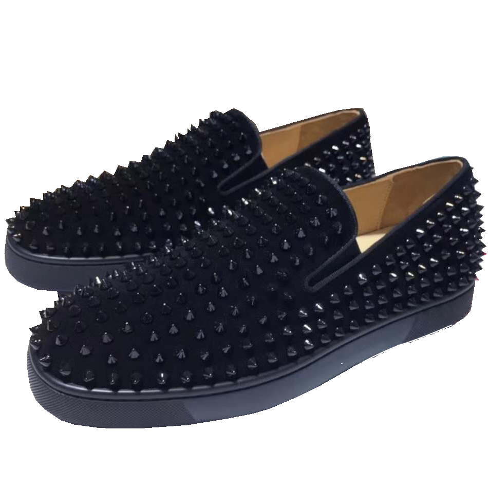 Casuales Resbalón Remaches De Plana Hombres Hombre Suave Zapatos Cuero Mocasines En Zapatillas Deporte Bajo Skate Plataforma Los Moda Corte qtxSgSAXw