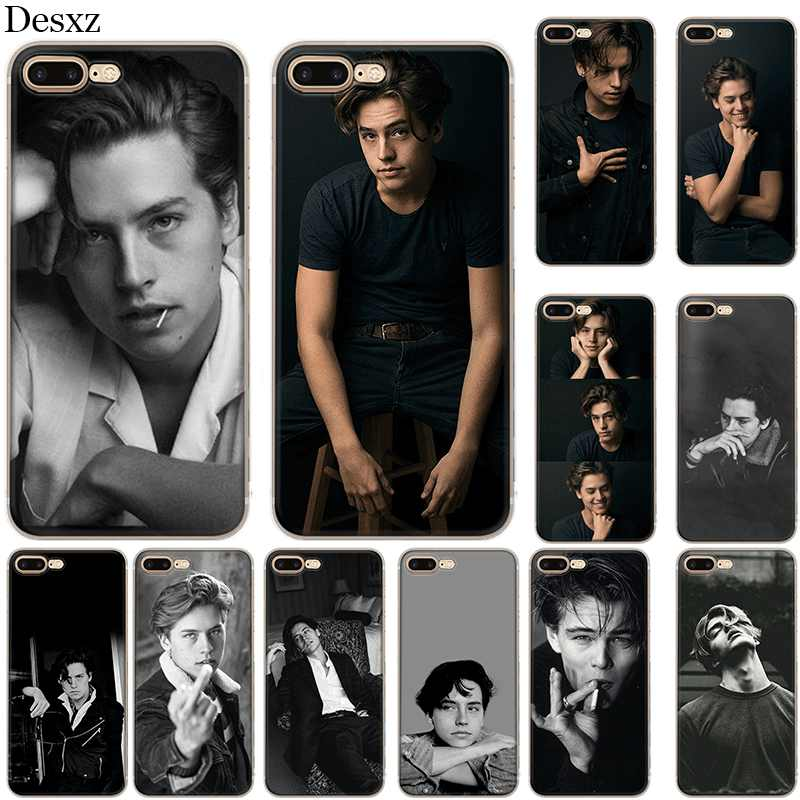 Silicone Case For iPhone 5 5s SE 6 6s 7 8 Plus X XS XR Max Cole Sprouse Cover Cases