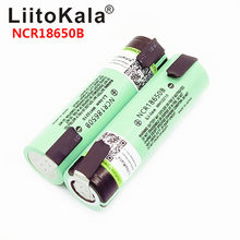 2019 LiitoKala NEW original NCR18650B 3.7V 3400mAh 18650 rechargeable lithium battery for battery + DIY nickel piece(China)