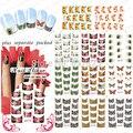 2015NEW 20 UNIDS/LOTE B111-121 Pegatinas Para Uñas Pegatina Agua Nail Art Stickers Decals Patrones Flores Y Estampado de Leopardo Sexy