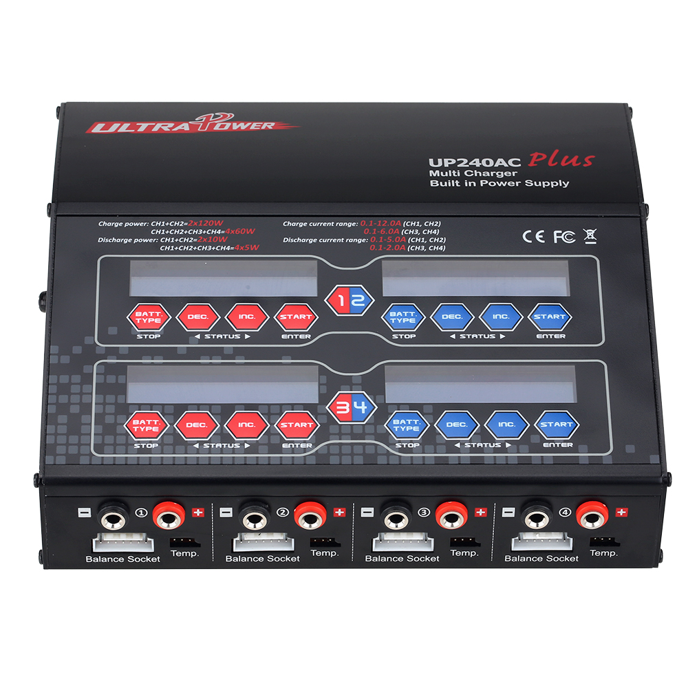 Ultra Power UP240AC Plus 240W Lilo LiPo LiFe NiMH NiCD Pb Battery Multi Balance Charger Discharger