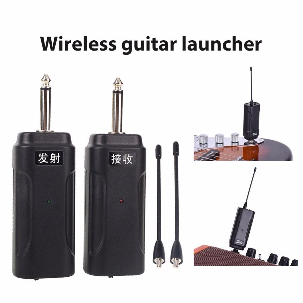 Portable Wireless Electric Guitar Audio Transmitter Receiver Set Digital for Electric Guitar Bass Electric Violin Guitar Musical new digital bass guitar wireless transmitter receiver 2 4ghz 4 channels anti interference 5v dc power usb cable battery