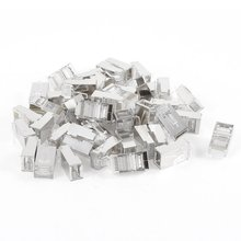 SZS Hot 50 Pcs Silver Tone Shielded RJ45 8P8C Network Cable CAT5 End Plug