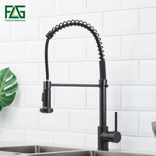 FLG Kitchen Faucet Oil Rubbed Bronze Kitchen Faucets Pull Out 360 Degree Rotating Deck Mounted Cold And Hot Kran Water стоимость