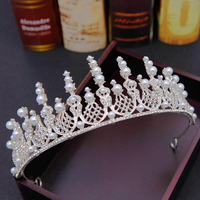 Sparkling Bling Bling Crystal Rhinestone Adorned Bridal Crown New Design Bride's Headpieces Top Head Tiaras Accessories