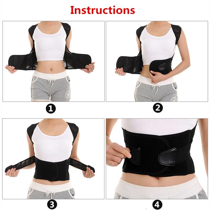 Children Adult Corset Back Posture Corrector Therapy Shoulder Lumbar Brace Spine Support Belt Posture Correction For Men Women 4
