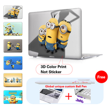 Minions Throw Bananas Crystal Case For Macbook Air 11 12 Pro Retina 13 15