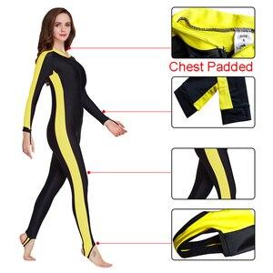 Image 3 - SBART UPF 50 + likra dalış giysisi anti UV tek parça döküntü bekçi uzun kollu mayo sörf kıyafeti erkekler kadınlar güneş koruyucu