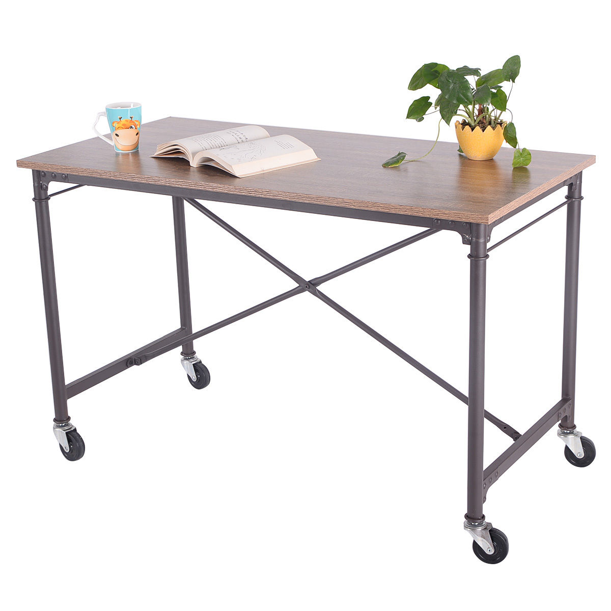 office tables on wheels. Giantex Computer Desk Laptop Writing Table Wheels Rolling Portable Wood Modern Home Office Furniture HW51983-in Desks From On Tables