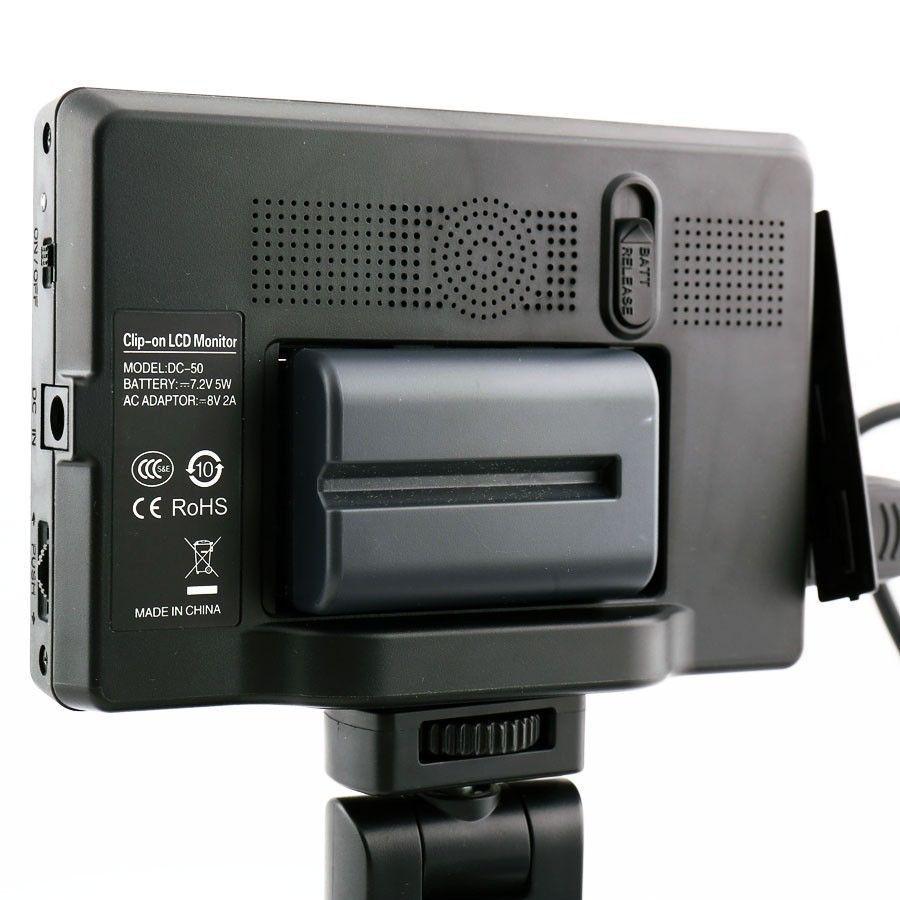 Viltrox 7'' DC-70 II 1280x800 HD LCD HDMI AV Input Camera Video Monitor Display & Battery & Charger for Canon Nikon DSLR BMPCC