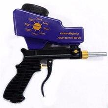 DJSona гравитационный питательный портативный пневматический абразивный Пескоструйный пистолет с запасным наконечником ручной Пескоструйный пистолет синего цвета