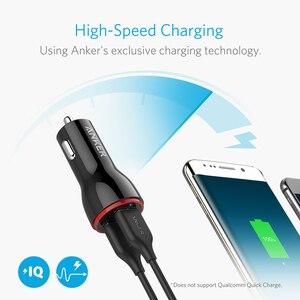 Image 2 - Anker 24W podwójna ładowarka samochodowa USB PowerDrive 2 dla iphonea; Samsung Galaxy; LG G4 / G5; Google Nexus; Urządzenia iOS i Android