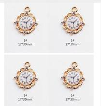 New 20Pcs Popular cartoon Alice in Wonderland Watches Necklace Key chain earrings DIY Metal Charm Pendants Jewelry Making(China)