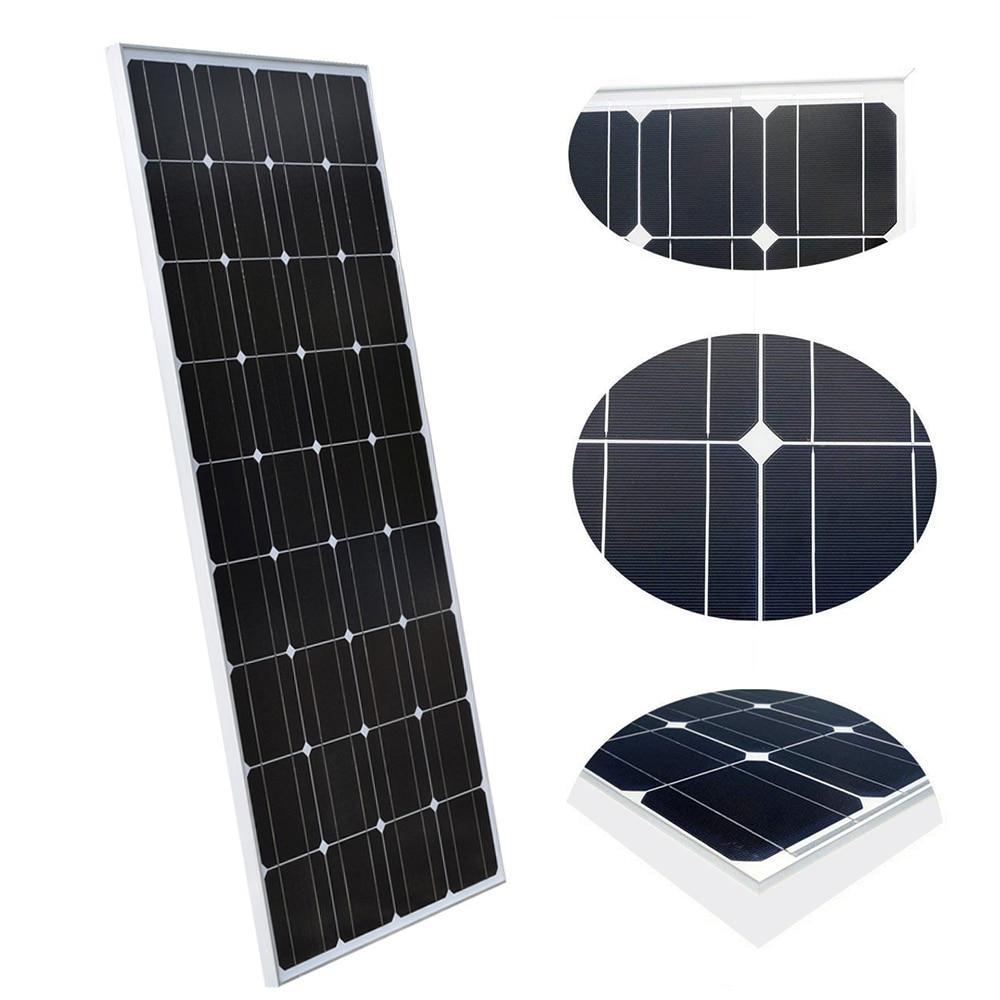 2PCS 4PCS 6PCS 8PCS 100Watt 18V Solar Panel 1160 530 25MM Monocrystalline Silicon Solar Modul Home Charger ES AU RU UA CA Stock in Solar Cells from Consumer Electronics