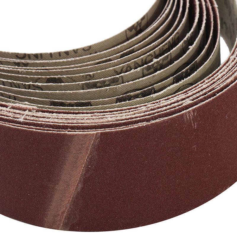 10 шт. шлифовальная Ремни для шлифовки и полировки Смешанные 60/120/150/240 зернистость 50X686 мм