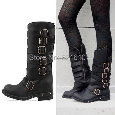New-Arrival-Women-Combat-Boots-Fashion-Autumn-Boots-Buckle -Design-Soft-Leather-Boots-Brand-Women-Flats.jpg