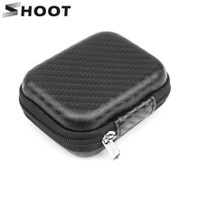 Shoot mini caixa de eva portátil, mini estojo de eva portátil impermeável para xiaomi yi 4k gopro hero 8 7 5 eken preto acessório de câmera dji osmo go pro 7