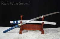Folded Steel Japanese Samurai Katana Sword Tiger Theme No bo hi Full Tang handmade real sharp Engraved Free