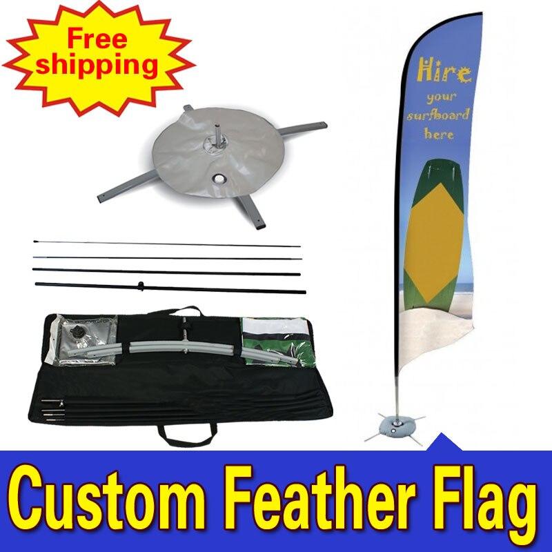60cm * 310cm DOPRAVA ZDARMA Ptačí vlajky peří SINGLE oboustranně Levné reklamní peří vlajky Drapeau De Plumes Fjader Flagg