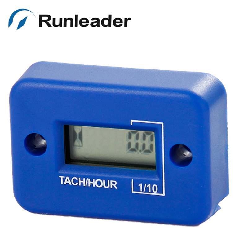 1pc blue Tachometer Hour Meter For Gas Engine motorbike trimmer motorcycle glider jet boat ATV Dirt quad bike pit jet ski