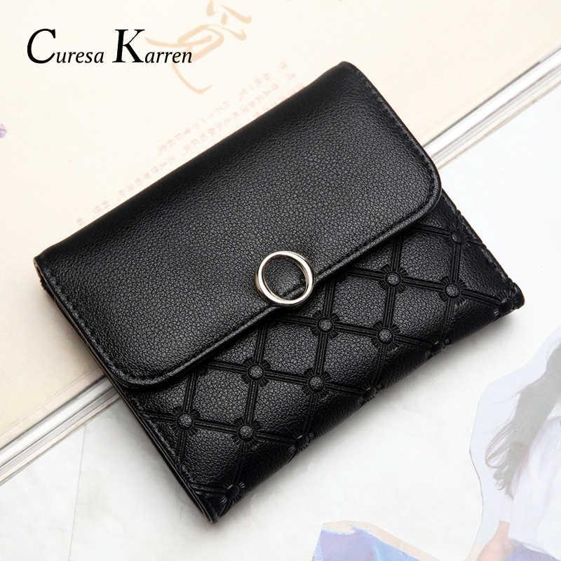 Nova bolsa feminina curta, grande volume doca bolsa feminina, simples moda buckpocket, pequenos ímãs adsorb carteira de negócios feminina