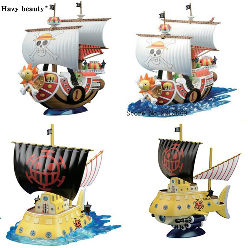 Hazy beauty Original Thousand Sunny/ Grand Line Going Merry Pirate Ship One Piece Anime brinquedos Collection Figures toys