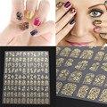 108 ШТ. 3D Цветочного Дизайна Nail Art Наклейки Для Ногтей Советы Переводные Картинки DIY Маникюр Украшения