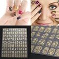 108 UNIDS 3D Diseño de La Flor Del Arte Del Clavo Pegatinas Uñas Postizas Tatuajes de Manicura DIY Decoración
