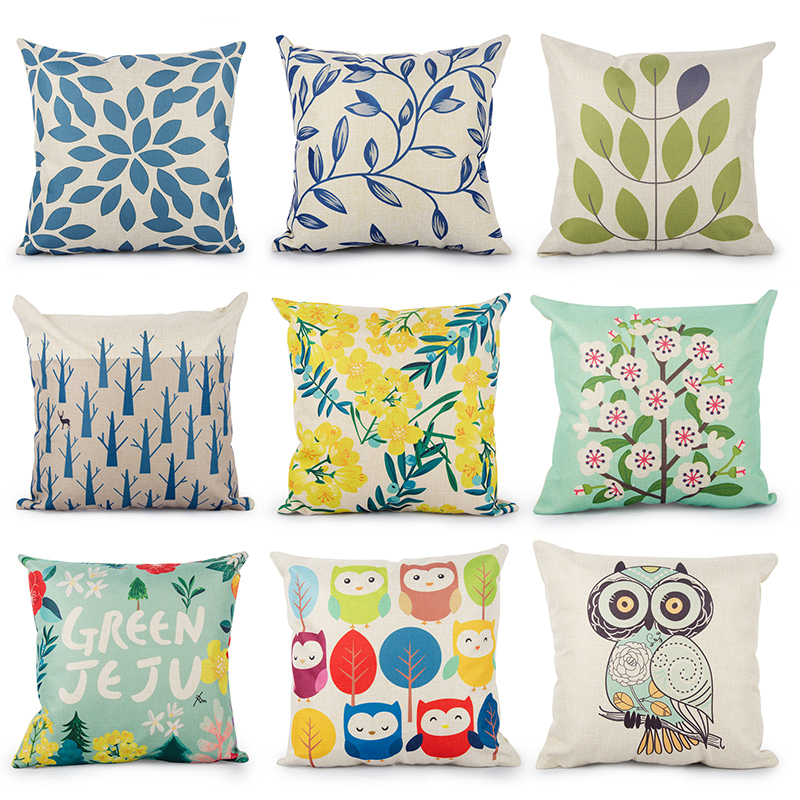 Topfinel Floral Cushion Cover Cheap Pillow Covers For Puff