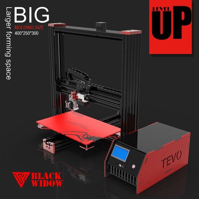 2016 Newest TEVO Black Widow Large Printing Area 370*250*300mm OpenBuild Aluminium Extrusion 3D Printer kit printer 3d printing
