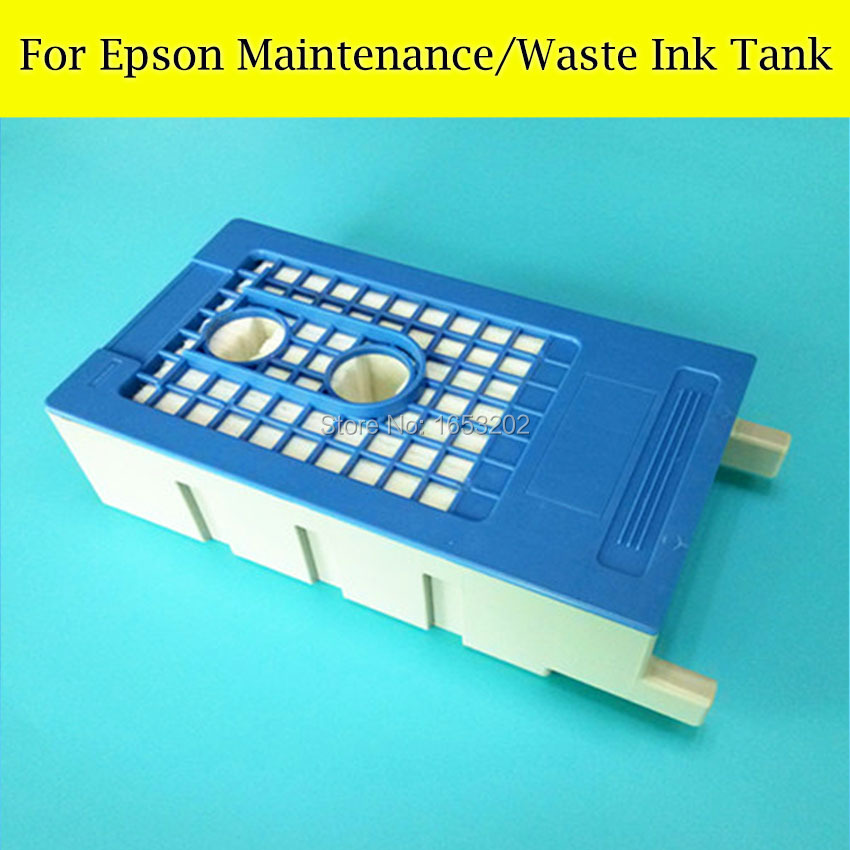 1 PC T6193 Maintenance Tank For EPSON Surecolor T7411 F6070 F7070 F7000 T3200 T5200 T7200 Printer Waste ink Tank 1 pc waste ink tank for epson sure color t3070 t5070 t7070 t5000 t3000 printer maintenance tank box