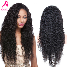 Brazilian Virgin Hair Human Hair Wigs 7A Wet And Wavy Full Lace Human Hair Wigs For Black Women CARA Curly Lace Front Wig