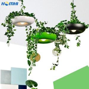 Image 1 - המדינה עציץ מנורת חדר אוכל בר דלפק קפה אור אמנות דקו איטלקי מעצב מנורת צמחי פרח עציץ נורדי תליון