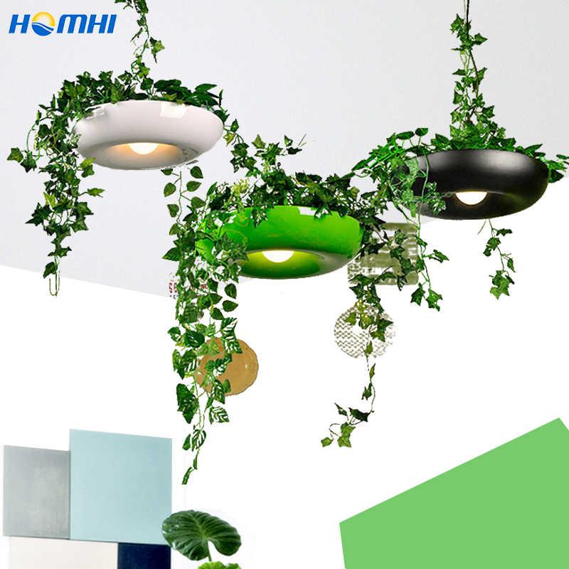 Кантри лампа для цветочного горшка столовая барная стойка кафе светильник, художественный, декоративный итальянский дизайнерский светильник в горшке Цветочные растения скандинавский кулон