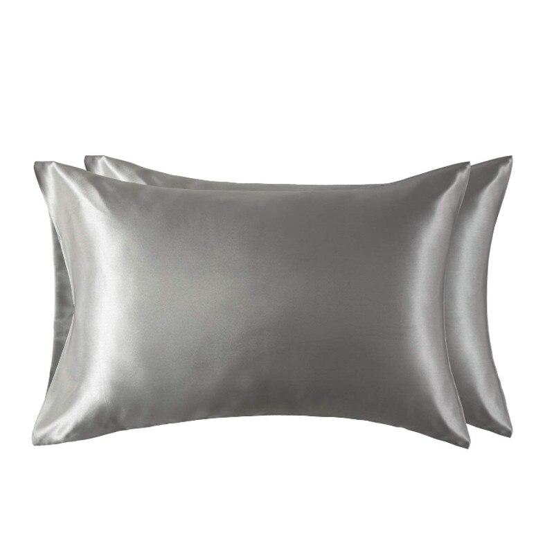 Атласная наволочка для волос и кожи, 2-Pack-queen size (20x30 дюймов) наволочки-атласные Наволочки на молнии