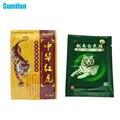 8 Pcs Tigre Branco + 8 Pcs Vermelho Chinês Tigre Gesso Ervas Gesso Medical Health Care Massagem de Relaxamento Muscular Conjunta dor D0050