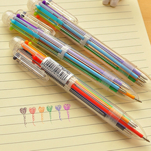 6 Colors 0.5mm Oily Ink Ballpoint Pen Office School Smooth Writing Ball Pen