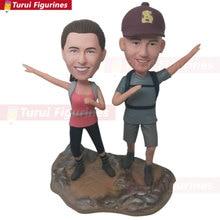 Hiker Wedding Cake Topper Personalized Custom Bobble Head Gift H