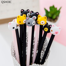 1lot=36pc!New Funny Cat Gel Ink Pens /animal Fashion Cute Rubber Water Pen/student Gift