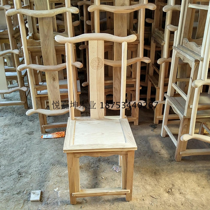 Ming and Qing classical solid wood dining chair Chinese chair elm wood chair hotel dining room furniture Minimum order 4pcs