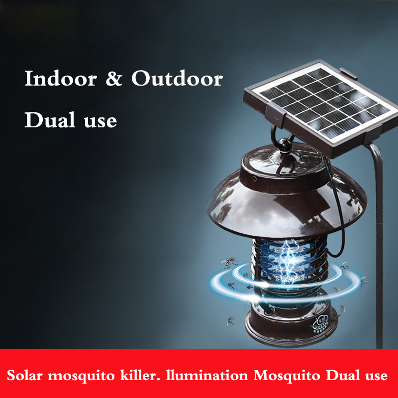 Household Solar mosquito killer Outdoor electric shock killer LED lighting anti-mosquito dual mute radiation-free household photocatalyst led mute usb mosquito killer