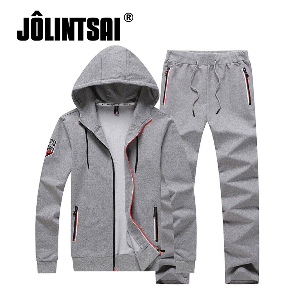 Plus Size 4XL Sporting Suits Male Hip Hop Long Sleeve Hoodies Pants Suit Autumn Fashion Two