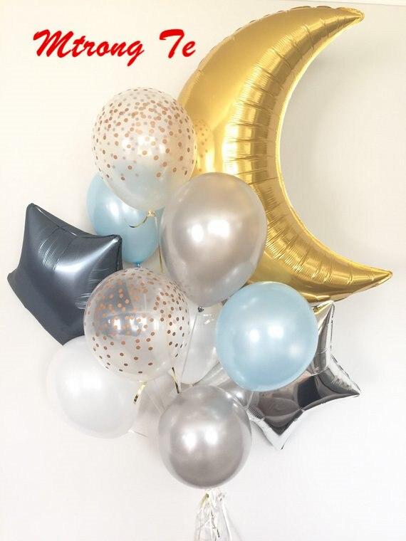 """30//50 Piezas De Cumpleaños Niño Azul De Bebé Baby Shower Perla Globos de Látex 10/"""" balones"""