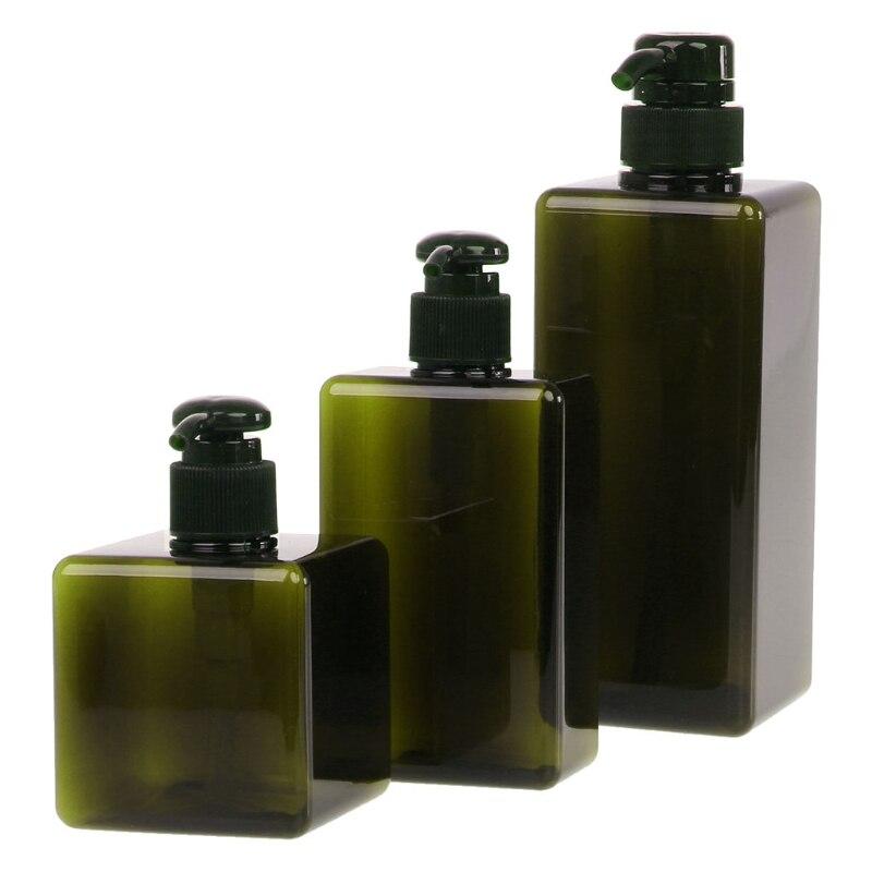 250ml/280ml/650ml Lotion Container Large Pump Plastic Shampoo Bottle Refillable Travel Bottle 3 Colors