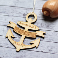 100pcs Personalized Anchor Wedding Tags Custom Wood Tags Nautical Wedding Favor Tags Rustic Wedding Bridal Shower