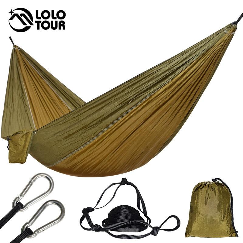 Ultralight 1 Person Hammock Portable Single Outdoor Camping Hamak Hiking Climbing Durable Hamac Can Hold 200kg 230*90cm